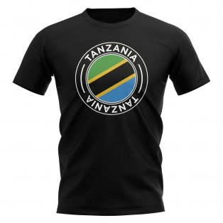Tanzania Football Badge T-Shirt (Black)