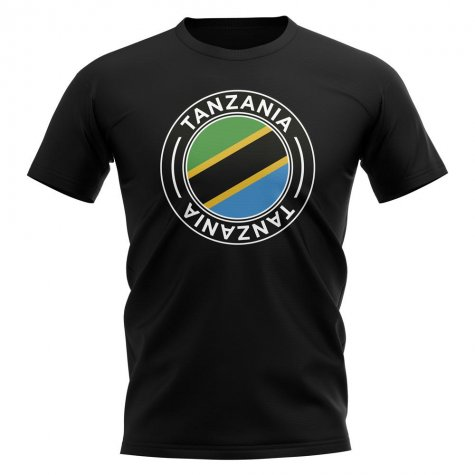 Tanzania Football Badge T-Shirt (Black)