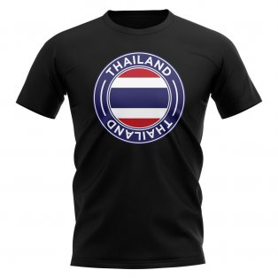 Thailand Football Badge T-Shirt (Black)