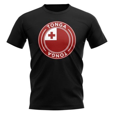 Tonga Football Badge T-Shirt (Black)