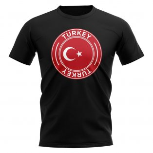 Turkey Football Badge T-Shirt (Black)