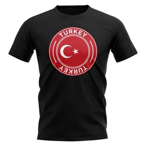 Turkey Football Badge T-Shirt (Black)