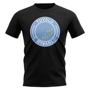 Tuvalu Football Badge T-Shirt (Black)