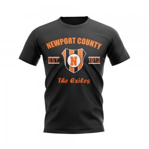 Newport County Established Football T-Shirt (Black)