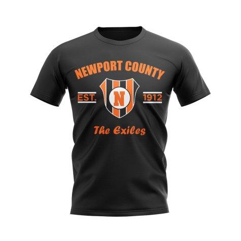 Newport County Established Football T-Shirt (Black)