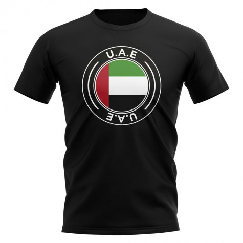 UAE Football Badge T-Shirt (Black)