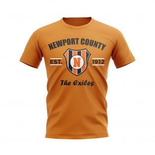 Newport County Established Football T-Shirt (Orange)