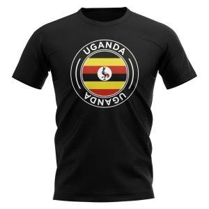 Uganda Football Badge T-Shirt (Black)