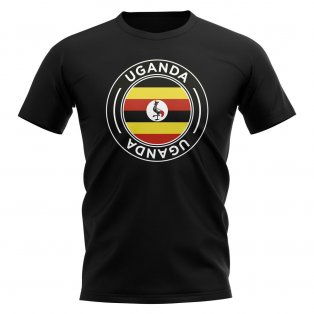 Uganda Football Badge T-Shirt (Black)
