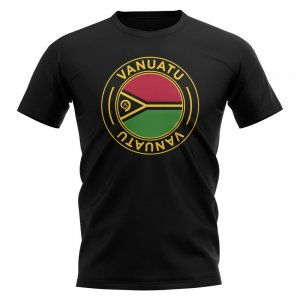 Vanuatu Football Badge T-Shirt (Black)