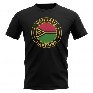 Vanuatu Football Badge T-Shirt (Black)