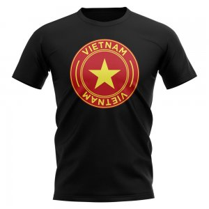 Vietnam Football Badge T-Shirt (Black)