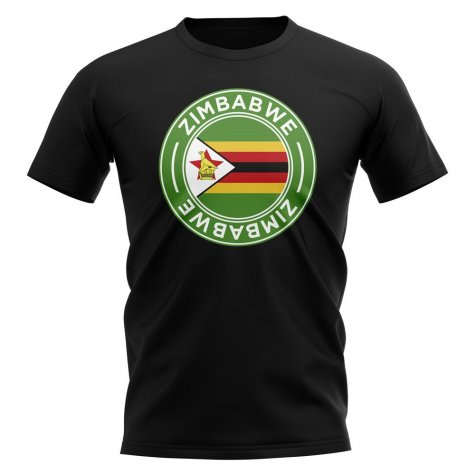 Zimbabwe Football Badge T-Shirt (Black)