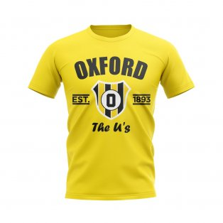 Oxford Established Football T-Shirt (Yellow)