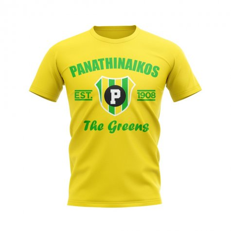 Panathinaikos Established Football T-Shirt (Yellow)