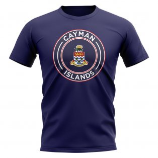 Cayman Islands Football Badge T-Shirt (Navy)
