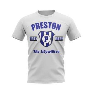 Preston Established Football T-Shirt (White)