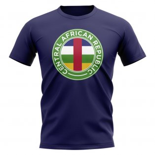 Central African Republic Football Badge T-Shirt (Navy)