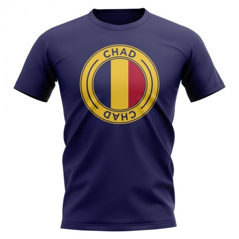 Chad Football Badge T-Shirt (Navy)