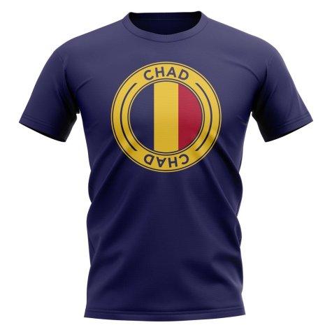 Chad Football Badge T-Shirt (Navy)