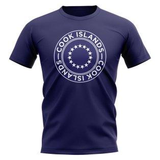 Cook Islands Football Badge T-Shirt (Navy)