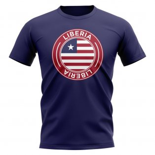 Liberia Football Badge T-Shirt (Navy)