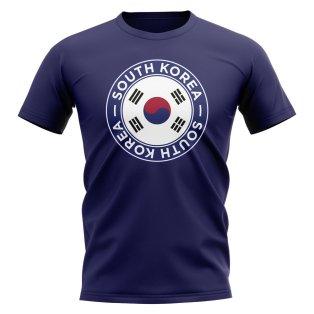 South Korea Football Badge T-Shirt (Navy)