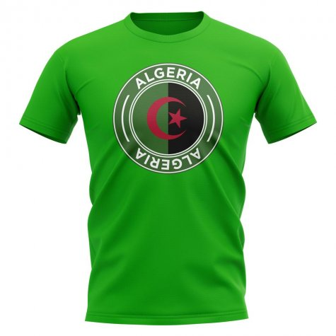 Algeria Football Badge T-Shirt (Green)