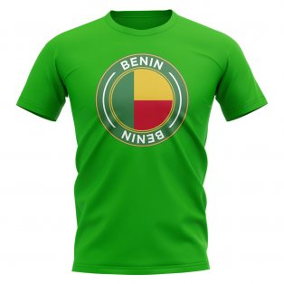 Benin Football Badge T-Shirt (Green)