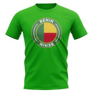 Benin Football Badge T-Shirt (Green)
