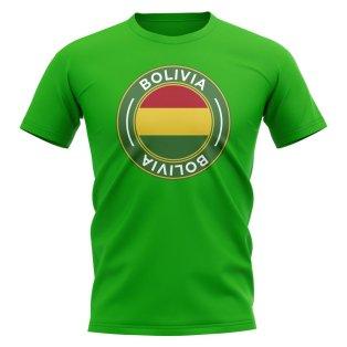 Bolivia Football Badge T-Shirt (Green)