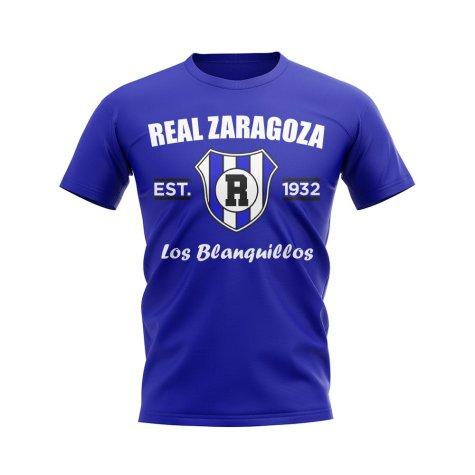 Real Zaragoza Established Football T-Shirt (Blue)