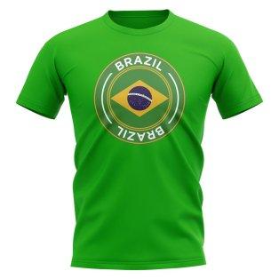 Brazil Football Badge T-Shirt (Green)
