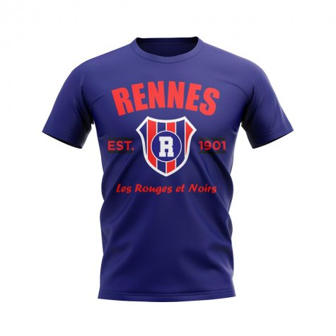 Rennes Established Football T-Shirt (Navy)
