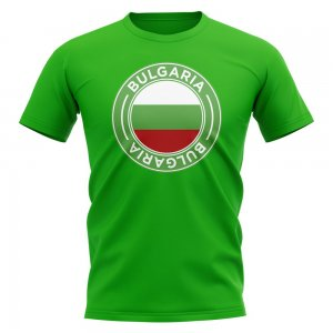 Bulgaria Football Badge T-Shirt (Green)