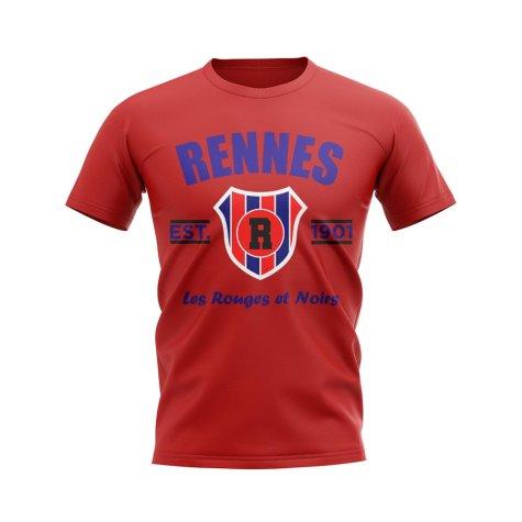 Rennes Established Football T-Shirt (Red)