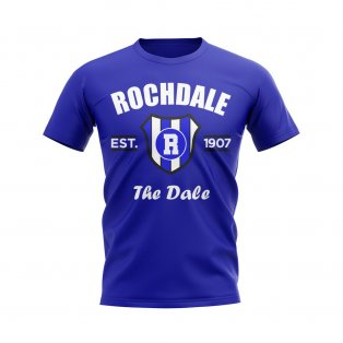 Rochdale Established Football T-Shirt (Blue)