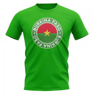 Burkina Faso Football Badge T-Shirt (Green)