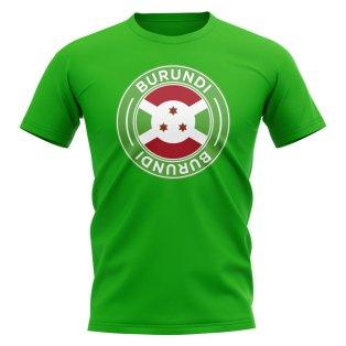 Burundi Football Badge T-Shirt (Green)