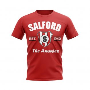 Salford CIty Established Football T-Shirt (Red)