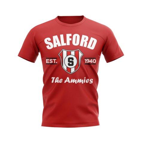 Salford CIty Established Football T-Shirt (Red)
