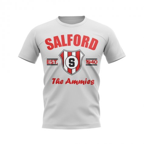 Salford City Established Football T-Shirt (White)