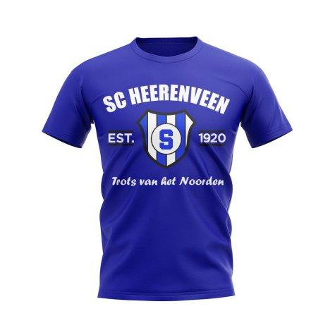 SC Heerenveen Established Football T-Shirt (Blue)