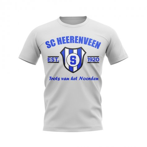 SC Heerenveen Established Football T-Shirt (White)