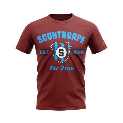 Scunthorpe Established Football T-Shirt (Maroon)