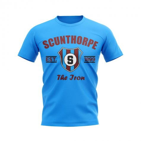 Scunthorpe Established Football T-Shirt (Sky)