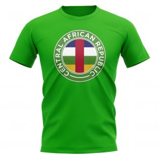 Central African Republic Football Badge T-Shirt (Green)
