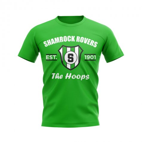 Shamrock Rovers Established Football T-Shirt (Green)