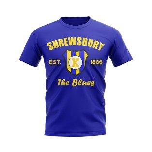 Shrewsbury Established Football T-Shirt (Blue)