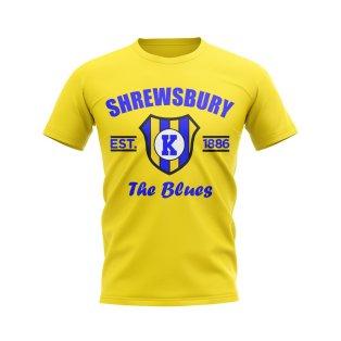 Shrewsbury Established Football T-Shirt (Yellow)
